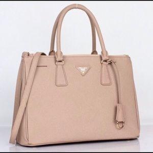 Prada Saffiano Tan Handbag